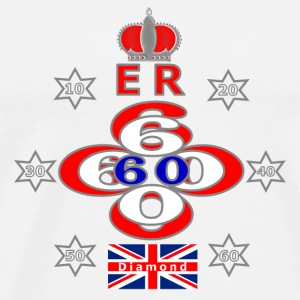queens jubilee 60 years star design - Men's Premium T-Shirt