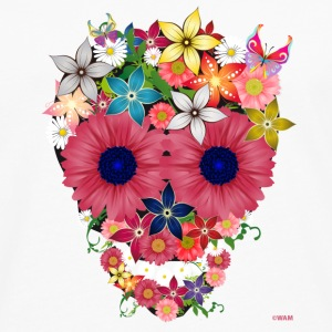 skull flowers by wam Kopper - Premium langermet T-skjorte for menn