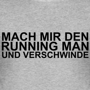 running man Pullover - Männer Slim Fit T-Shirt