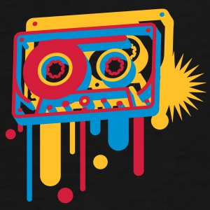 3D music cassette in graffiti style  Bags  - Men's Premium T-Shirt