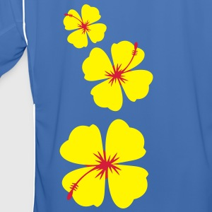 single three hibiscus tropical flowers Jackets & Vests - Men's Football Jersey