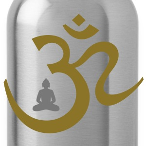 OM Symbol Buddha Meditation Buddhism Hinduism T-Shirts - Water Bottle
