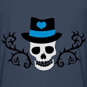creepy skull with a top hat and tattoo thorns Jackets & Vests - Men's Premium Longsleeve Shirt