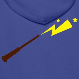 simple magic wand with sparks and stars magical!  Jackets & Vests - Men's Premium Hoodie