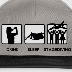 Drink Sleep Stage Diving - festival stages tents Hoodies & Sweatshirts - Snapback Cap