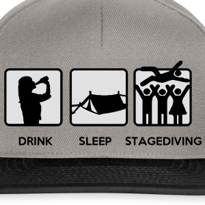 Drink Sleep Stage Diving - festival stages tents T-Shirts - Snapback Cap