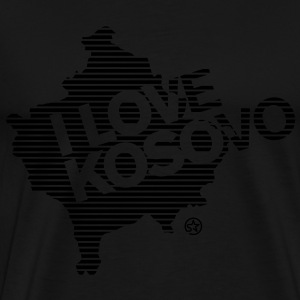 I LOVE KOSOVO - Men's Premium T-Shirt