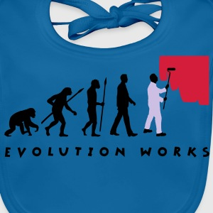 evolution_painter_042012_a_3c Kids' Shirts - Baby Organic Bib