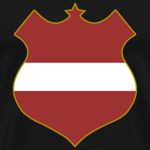 latvia shield Bags  - Men's Premium T-Shirt