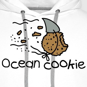 ocean shark cookie T-Shirts - Men's Premium Hoodie