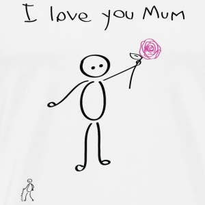 Stickman - I love you mum - Mother's Day - Men's Premium T-Shirt