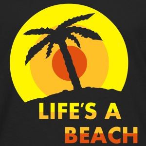Lifes a beach Mens T-shirt - Men's Premium Longsleeve Shirt