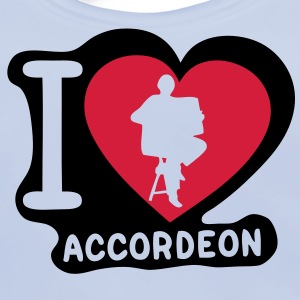 i love coeur heart accordeon1 Tee shirts Enfants - Bavoir bio Bébé