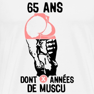 65 ans musculation bodybuilding anniver Sweat-shirts - T-shirt Premium Homme