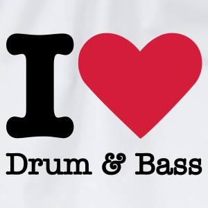 I Love Drum & Bass T-Shirts - Drawstring Bag