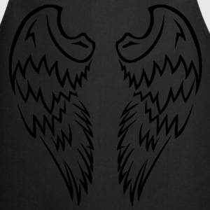Pink Tribal Tattoo Angel Wings - Cooking Apron