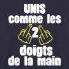 unis comme 5 non 2 doigts main fuck1 Sweat-shirts - Sweat-shirt Homme