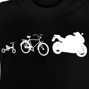 Evolution Bike weiss Kinder T-Shirts - Baby T-Shirt