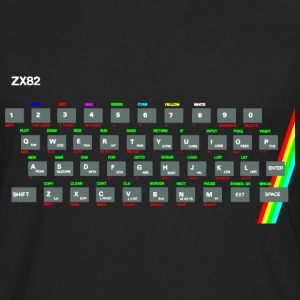 ZX81 (Zed-Ex) Spectrum Keyboard T-Shirts - Men's Premium Longsleeve Shirt