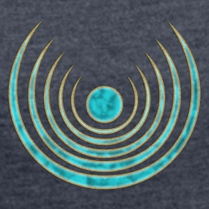 Moon amulet Blue Moon - intuition, creativity and media skills, digital, protection symbol Hoodies & Sweatshirts - Women's T-shirt with rolled up sleeves