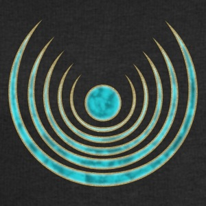 Moon amulet Blue Moon - intuition, creativity and media skills, digital, protection symbol T-shirts - Sweatshirt herr från Stanley & Stella