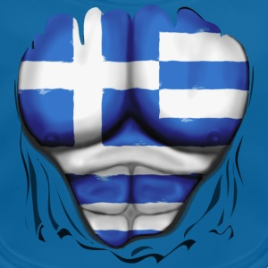 Greece Flag Ripped Muscles six pack chest t-shirt - Baby Organic Bib