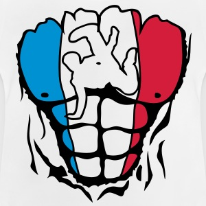 breakdance6 france corps muscle drapeau Tee shirts Enfants - T-shirt Bébé
