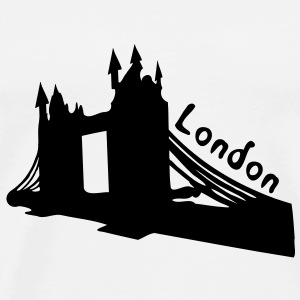 London Tower Bridge Mug - Men's Premium T-Shirt