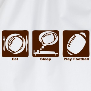 football americain eat sleep play ballon Tee shirts - Sac de sport léger