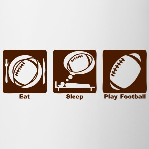 football americain eat sleep play ballon Tee shirts - Tasse