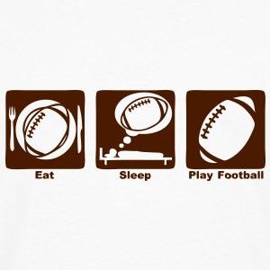 football americain eat sleep play ballon Tee shirts - T-shirt manches longues Premium Homme
