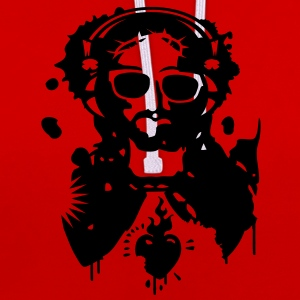 Jesus Graffiti with headphones and sunglasses T-Shirts - Contrast Colour Hoodie