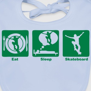 skateboard 301 eat sleep play  Tee shirts Enfants - Bavoir bio Bébé