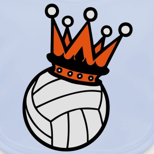 couronne crown king volleyball1 roi Tee shirts Enfants - Bavoir bio Bébé