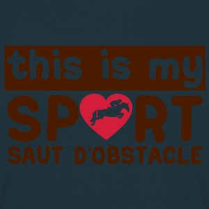 this is my sport saut obstacle cheval18 Sweat-shirts - T-shirt Homme