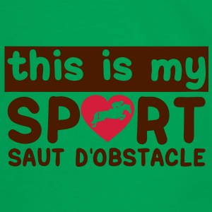 this is my sport saut obstacle cheval18 Sacs - T-shirt contraste Homme