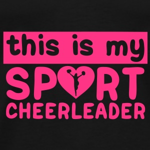 this is my sport cheerleader1 Sacs - T-shirt Premium Homme