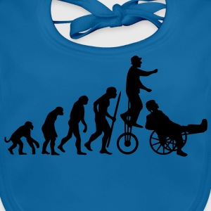 Evolutionstheorie Hals und Beinbruch (Zirkus-Clown) Kinder T-Shirts - Baby Bio-Lätzchen