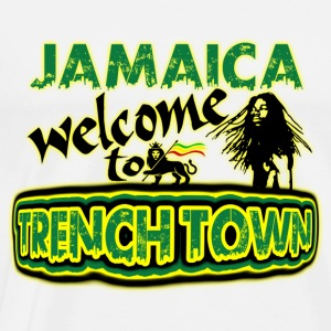 jamaica welcome to trench town Sudadera - Camiseta premium hombre