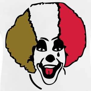 clown supporter italie drapeau1 flag Tee shirts Enfants - T-shirt Bébé