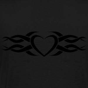 Womens Tribal Heart tattoo Heart Hoodie - Men's Premium T-Shirt