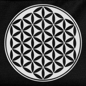 Flower of life - silver - sacred geometry - power  - Kids' Backpack