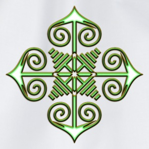 Chaos Star, Symbol of chaos, green / gold, Everything has meaning and magic power! Power symbol, Energy symbol Koszulki - Worek gimnastyczny