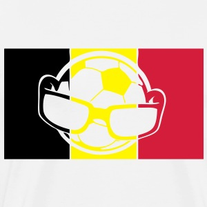 drapeau belgique ballon football soccer Sweat-shirts - T-shirt Premium Homme