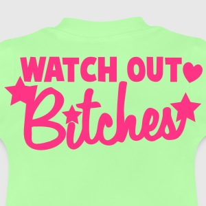 watch out bitches stars heart warning beware! Hoodies - Baby T-Shirt