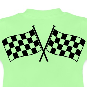 Two checkered flags winner of the race  Hoodies - Baby T-Shirt