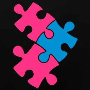 three jigsaw pieces fitting in two colour cute Hoodies - Baby T-Shirt