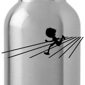 running person on a track sports Hoodies - Water Bottle
