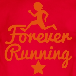 FOREVER RUNNING! awesome runners shirt Hoodies - Organic Short-sleeved Baby Bodysuit
