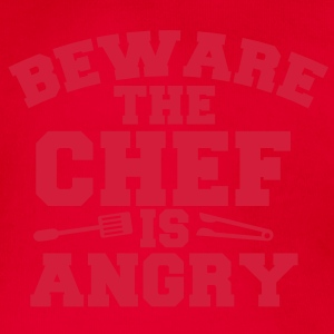 beware the chef cook is angry! tongs and fork Hoodies - Organic Short-sleeved Baby Bodysuit